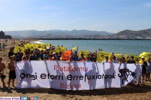 Manifestación en apoyo a las personas refugiadas