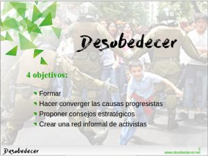 Objetivos del colectivo Desobedecer