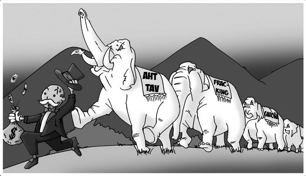 Elefante blanco de los Grandes Proyectos Inútiles y Impuestos (GPII)