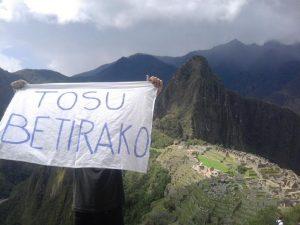 Tosu betirako desde Perú