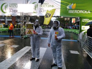 Carrera nocturna en Bilbao por Iberdrola en caso de accidente nuclear en Garoña