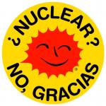 Pegatina nuclear no gracias