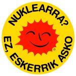 Pegatina Nuclear no gracias euskera - Nuklearra Eskerrik asko